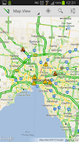 Screenshot of VicTraffic