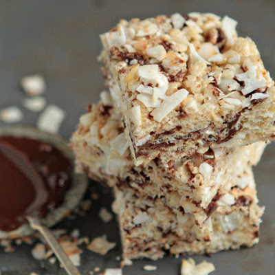 Chocolate-Coconut Rice Krispie Treats