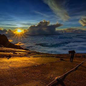 Sunrise at Mount Kinabalu by Waily Harem - Landscapes Sunsets & Sunrises ( sunrise,  )