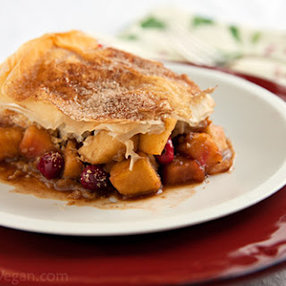 Apple-Cranberry Strudel Pie