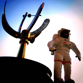 Boldly Go by Vince Scaglione - Artistic Objects Toys ( space suit, spaceman, traveler, astronaut, boldly, space, go )