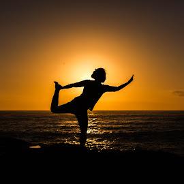 by Rajlakshmi H Boruah - Sports & Fitness Fitness ( fitness, waterscape, australia, sunrise, beach, scenic )