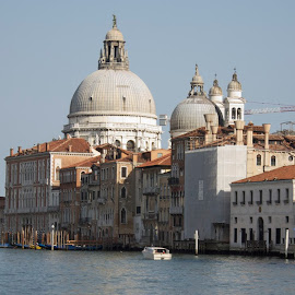 Venice, Italy by Gregory Miller - City,  Street & Park  Vistas ( water, raw, church, venice, canal, italy,  )