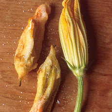 Batter Fried Stuffed Squash Blossoms