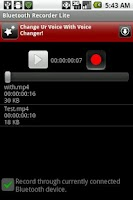 Screenshot of Bluetooth Recorder Lite