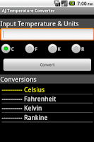 Screenshot of AJ Temperature Converter