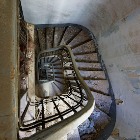 The staircase by Fokion Zissiadis - Buildings & Architecture Decaying & Abandoned ( indoor decay fillipou 15 staitrcase )