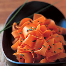 Orange-Glazed Carrot Ribbons
