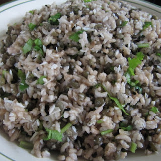 Lentils and Basmati with Tamarind, Coconut, Cilantro and Black Caraway