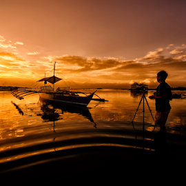 Lovely Sunrise by Ferdinand Ludo - Transportation Boats ( cebu city, sunset, photographer, mactan island, cordoba )