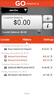Screenshot of Navy Federal Prepaid