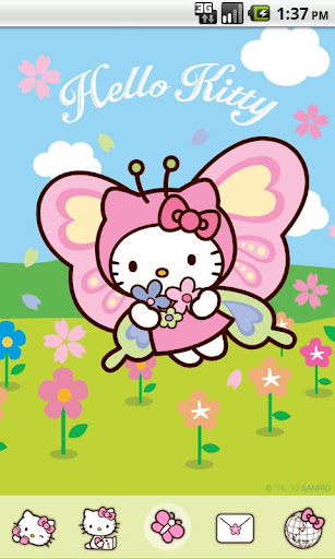 Hello Kitty Butterfly Theme