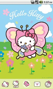 Hello Kitty Butterfly Theme - screenshot