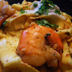 Tropical Island's Pasta With Shrimps and Coconut