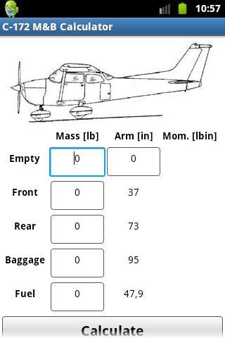 Cessna C-172 Mass Balance