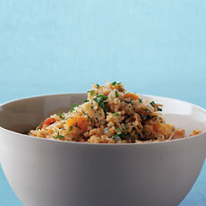 Bulgur with Apricots and Almonds