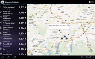 Screenshot of Spritpreisrechner