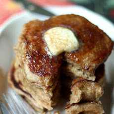 Apple Cider Pancakes + Cinnamon-Sugar Topping