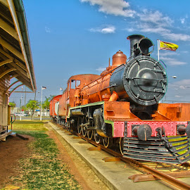 Blackwater Train by Michael Mitchell - Transportation Trains ( hdr, station, coal, train, blackwater )
