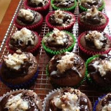 Filled German Chocolate Cupcakes
