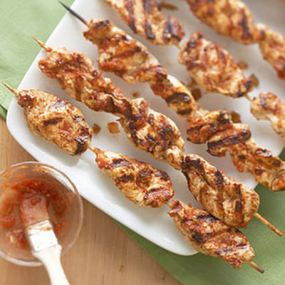 Salsa Chicken on a Stick