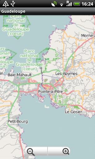 Guadeloupe Street Map