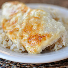 Creamy Swiss Cheese Chicken Bake