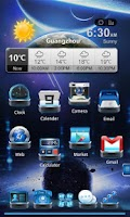 Screenshot of Next Launcher Theme SpaceFax