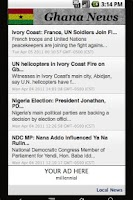 Screenshot of Ghana News Daily