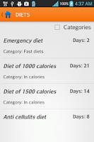 Screenshot of Diets for losing weight