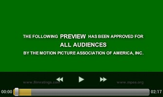 Screenshot of Actual Movie Trailers