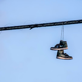 Shoes by Paul Toscano - Artistic Objects Clothing & Accessories ( shoes lost line wire hanging,  )