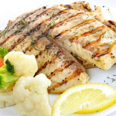 Grilled Tilapia with Sweet Lemon Butter