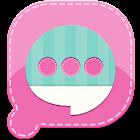 Easy SMS Pink Garden Theme icon