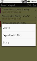 Screenshot of Droid notepad (Ad-Free)