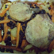Lazy Vegetable Pork Chop Bake