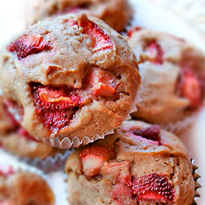 Vegan Strawberry Banana Muffin