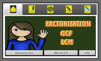 Screenshot of Factorization, GCF and LCM