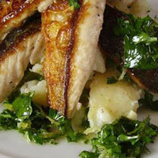 Griddled Mackerel With Crushed Potatoes And Fennel