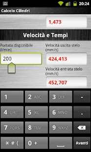 Calcolo Cilindri - screenshot