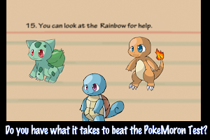 Screenshot of Poke Moron Test Deluxe