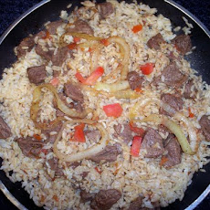 Stir Fried Sirloin Steak W/ Brown Rice