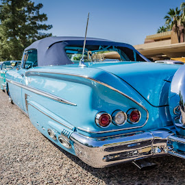 The Blues by Cali Original - Transportation Automobiles ( car, lowrider, impala, chevrolet, art, chevy )