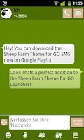 Screenshot of Sheep Farm Theme GO SMS