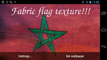 Screenshot of 3D Morocco Flag Live Wallpaper