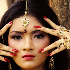 over close up by Martinus Anggityo - Novices Only Portraits & People ( #model #women #closeup #culture #india )