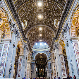 St. Peter's Cathedral, Rome by Matthew Haines - Buildings & Architecture Places of Worship