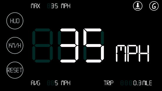 Simple Speedometer White HUD - screenshot