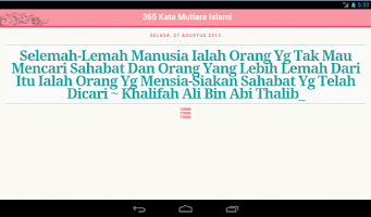 Screenshot of 365 Kata Mutiara Islam