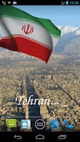 Screenshot of 3D Iran Flag Live Wallpaper